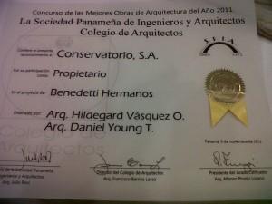 Award-Certificategalardonada